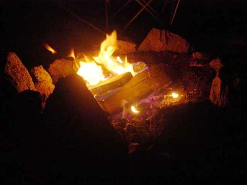 Camp Fire at White Mountain