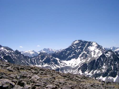 Mt. Hague (right) and...