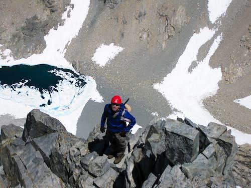 Downclimb of Black Kaweah Knife Ridge