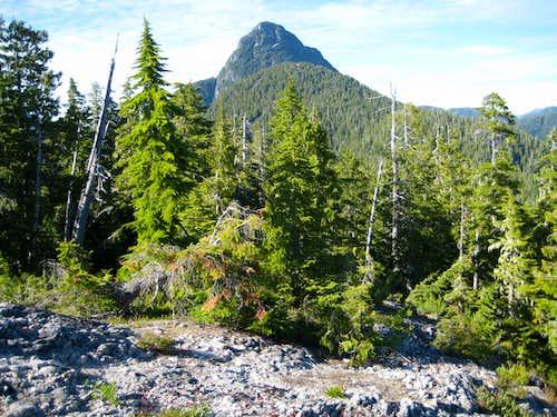 Conuma Peak from the Lower South Ridge