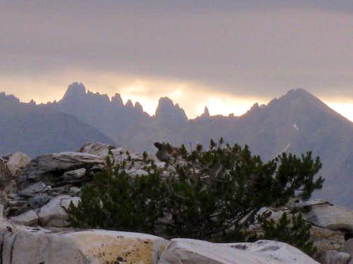 Kaweah Peaks at Daybreak with Weather Forming