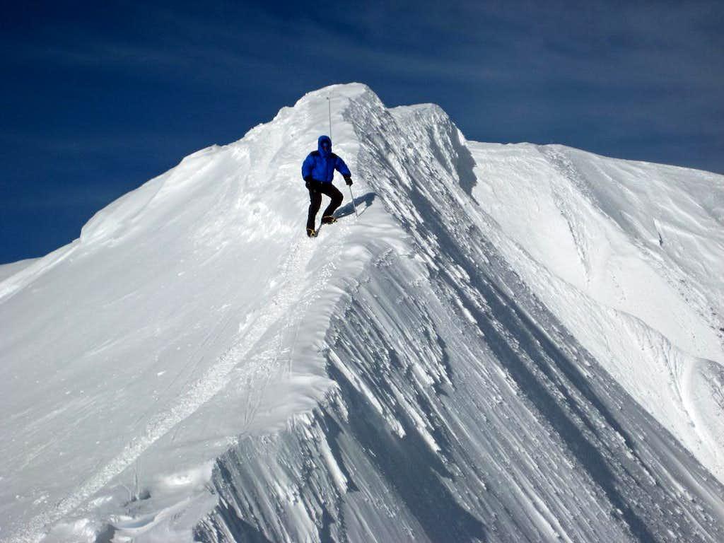 Denali's summit ridge