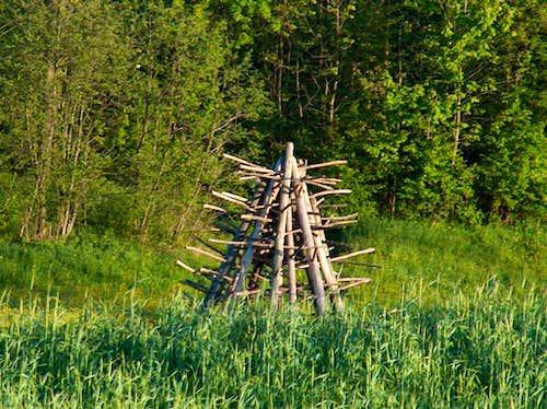 Old fashioned bundle of hay, Gorce.