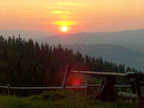 Sunset, Gorce.