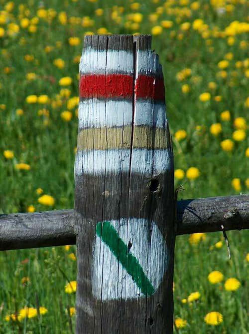 Trails marks, Gorce.
