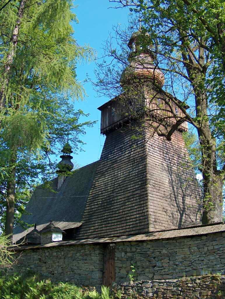 The wooden church in Rabka, Gorce.