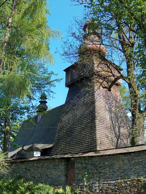 The wooden church in Rabka, Gorce.