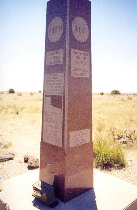 The monument atop Oklahoma...