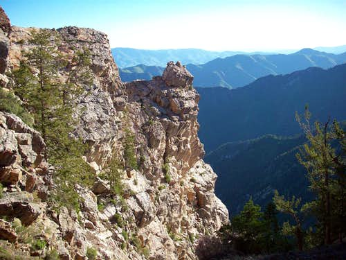 Rock outcrop above North's Fork