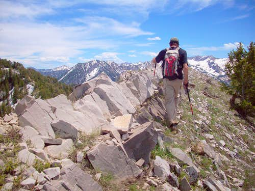 Traversing toward Raymond above Poter Fork