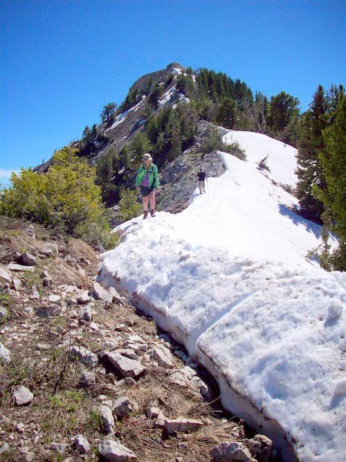 Descending Mt Raymond