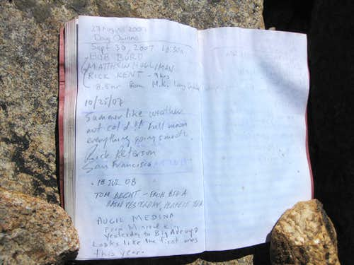 SPers in Mt. Kaweah Summit Register