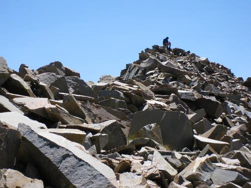 Rubble of Mt. Kaweah Summit