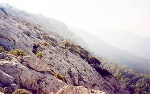 The top of the Terpsithea crag
