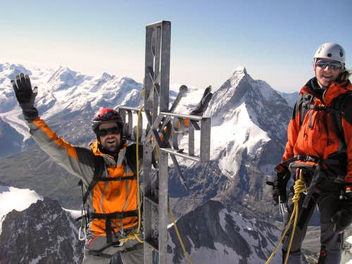 Yeppa! on the summit of Dent Blanche 4357m