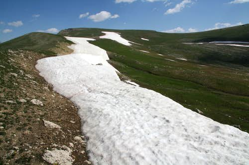 Tundra Ridges Leading to Beartooth Butte