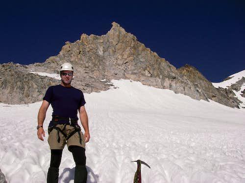 Big John below the Gooseneck Pinnacle