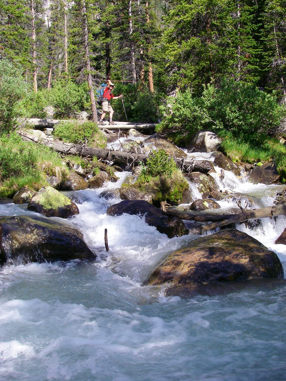 Crossing a tributary of Gannett Creek