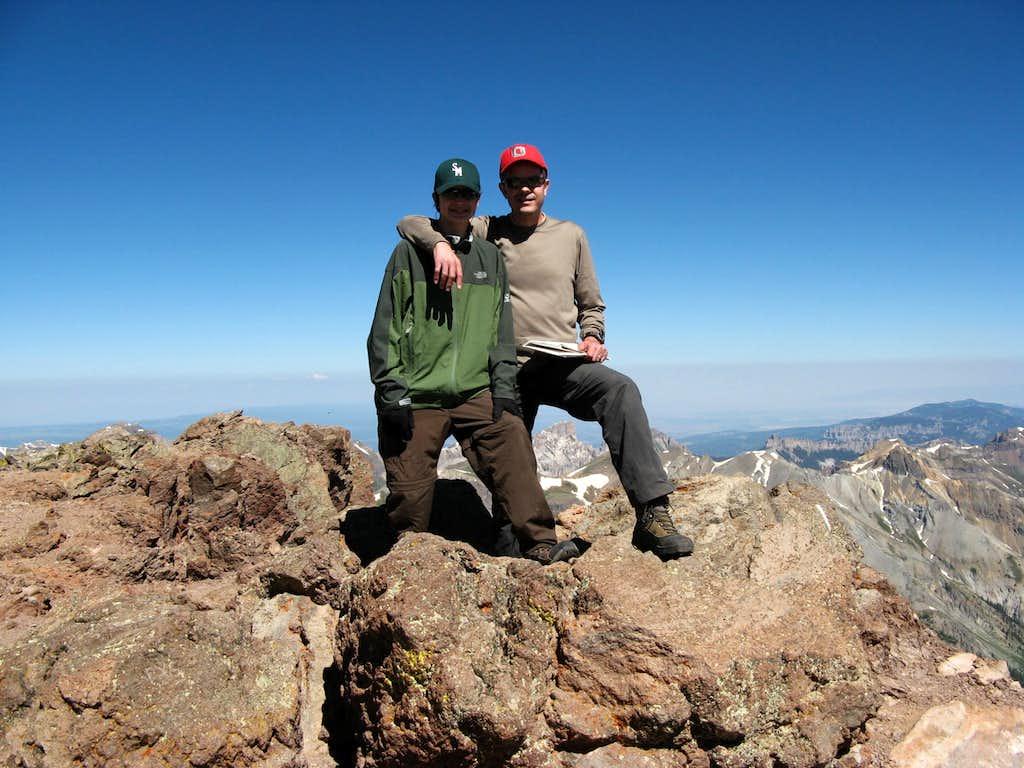 Jonathan and Me on Uncompahgre Peak