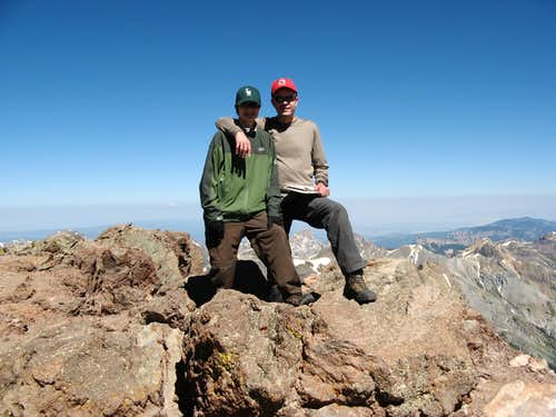 Jonathan and Me on Uncompahgre Peak