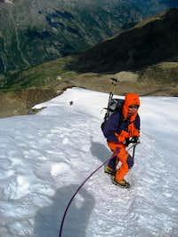 Descending the NW Ridge