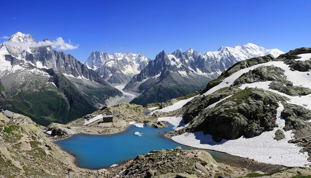 Mont Blanc Massif from Lac Blanc