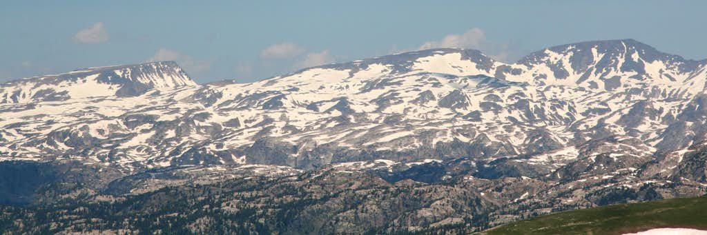 Mount Dewey, Summit Mountain, and Snowbank Mountain