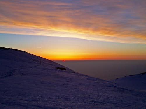 Sunrise at Muses plateau