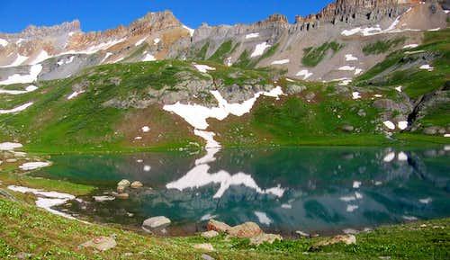 Ice Lake reflects Pilot Knob....