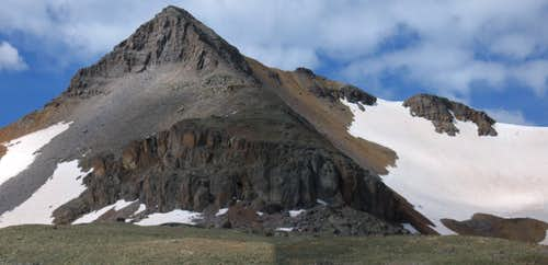 Fuller Peak as seen from Upper Ice Lake Basin