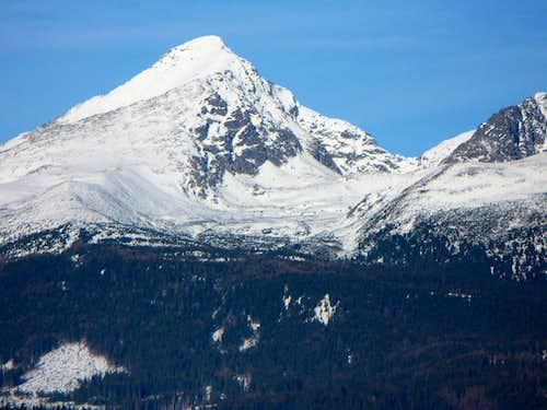 Kriváň (2495 m), its E wall and saddle Špára (2176 m)