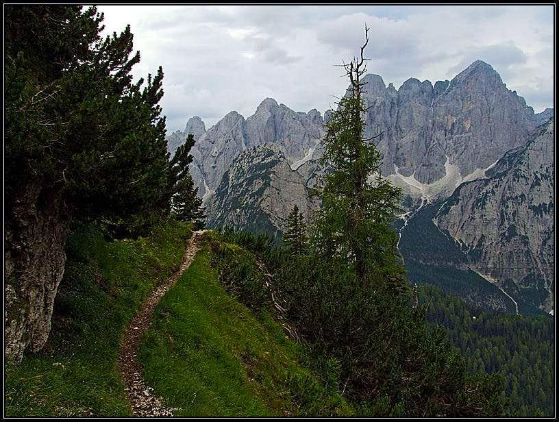 Cima del Cacciatore / Kamniti Lovec south ascent