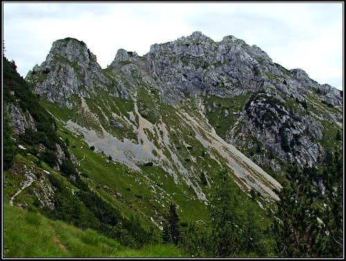Cima del Cacciatore / Kamniti Lovec SW slopes