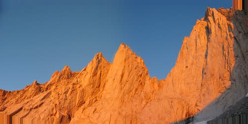 Alpenglow on Mt. Whitney and the Needles