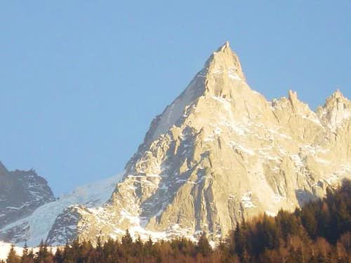 Aig Blaitiere from Chamonix...