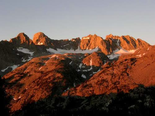 Morning Alpenglow on the Palisades
