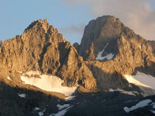Mt. Gayley and Mt. Sill at Sunset