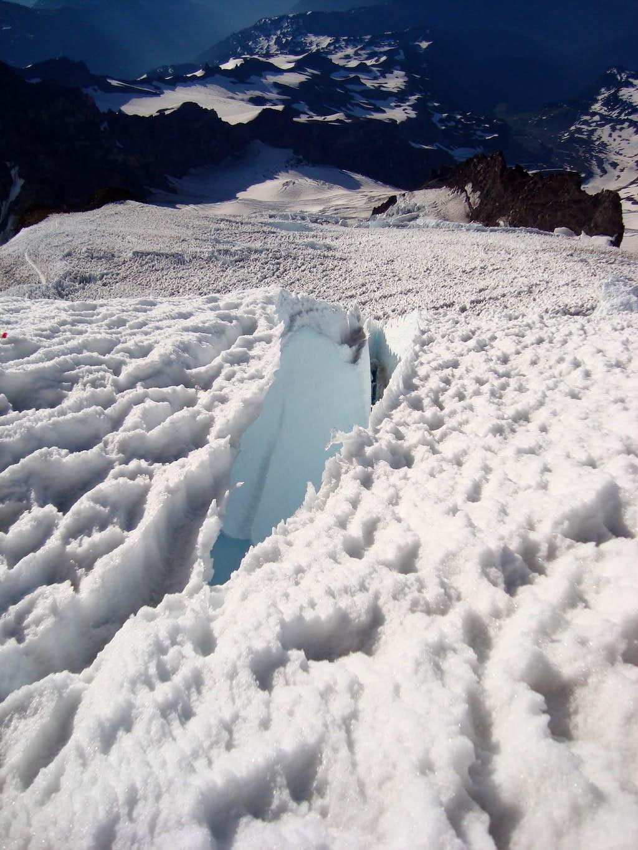 Crevasse on the Emmons Glacier