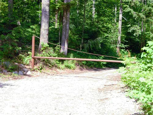The Entrance To Forest Service Road 6221...
