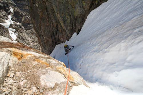 Following in the Hidden Couloir