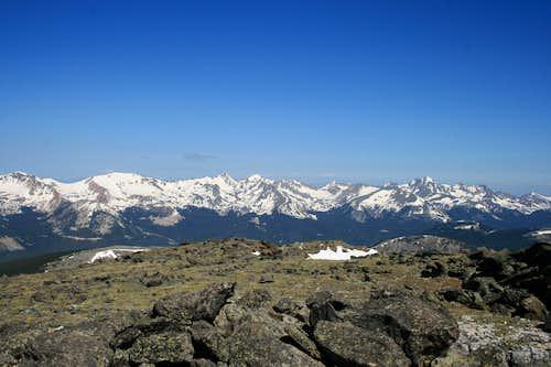 Never Summer Range from Mount Ida