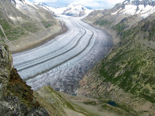 The biggest Glacier in Europe: Grosser Aletschgletscher