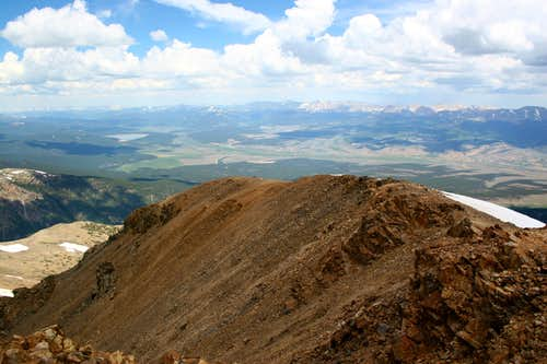 Leaving Mt. Elbert Summit...