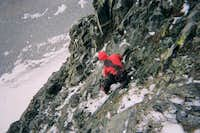 downclimbing the