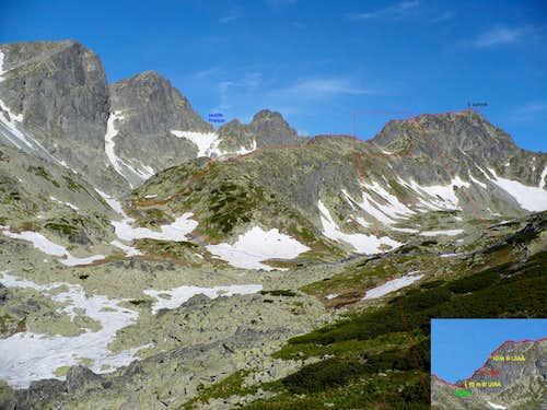 SE ridge of Svišťový štít