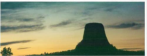 August, 2001. Devils Tower...