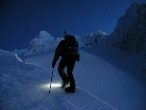 Winter night on the southside-Mt Hood