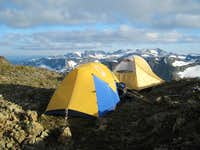 Camp on the Summit of Mt Frink