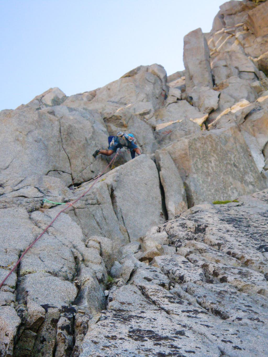 Kostas on the 2nd Pitch of LeConte's Revenge