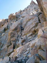 Shay entering the 3rd pitch dihedral